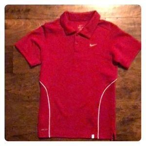 Nike Red Dri-fit Youth polo size small